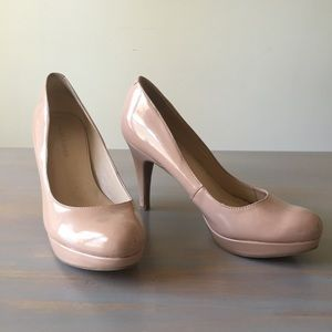 Marc Fisher Blush Pink Patent Leather Heels SZ 7